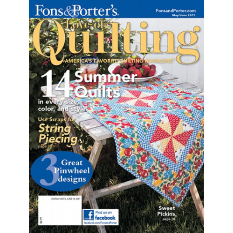 Fons Porters Love Of Quilting Magazine Jelly Rolls 2 Go