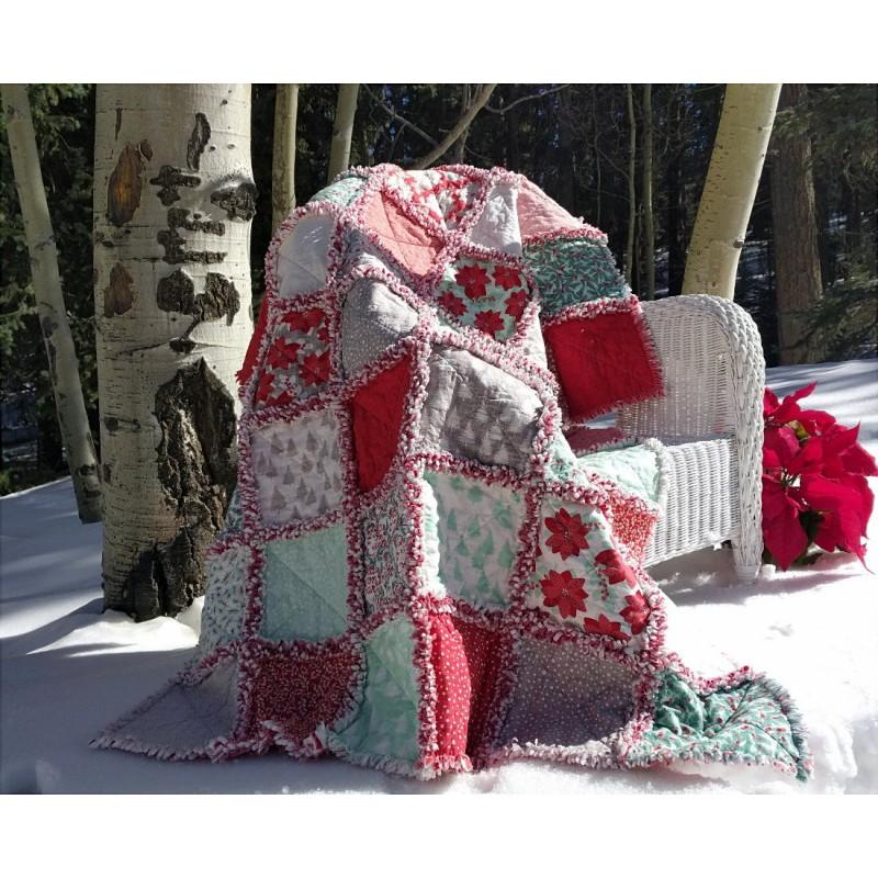 Winterberry Prefringed Rag Quilt Kit Jelly Rolls 2 Go