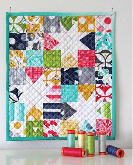 LUCKY STAR QUILT KIT - Moda COLOR THEORY fabric + Set of 7 AURIFIL ... : cotton theory quilting video - Adamdwight.com