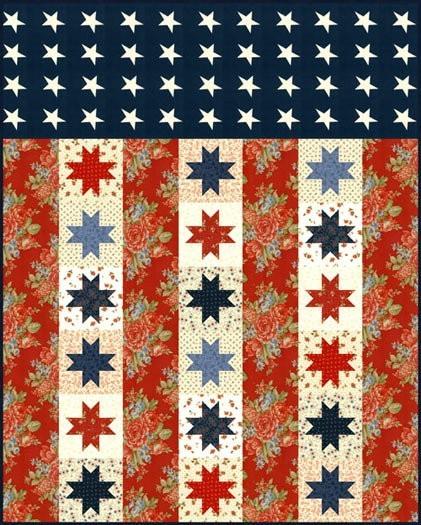 Flag Of Valor Quilt Pattern Jelly Rolls 2 Go