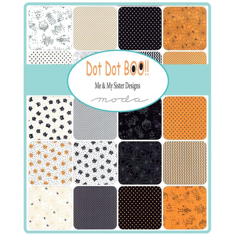 Dot Dot Boo Moda Fabric Swatch