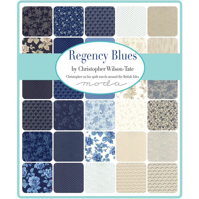 regency blue swatch - moda fabric