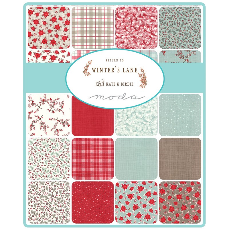Return to Winter's Lane Moda Fabric Swatch