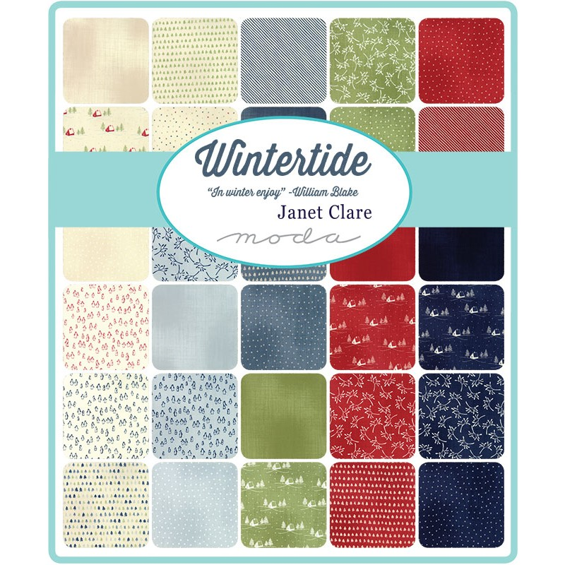 wintertide moda fabric swatch
