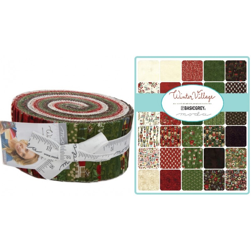 Winter Village Moda Jelly Roll