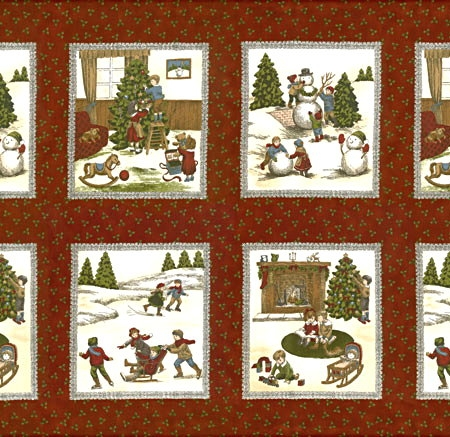 A Dickens Christmas Fabric Panel -0