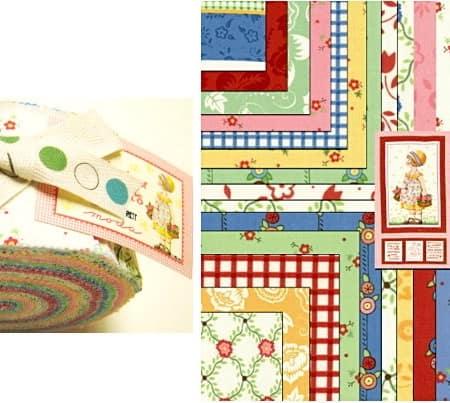 Baskets of Flowers Moda Jelly Roll-0