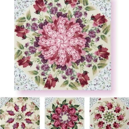 Bella White Kaleidoscope Quilt Kit-0