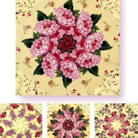 Bella Yellow Kaleidoscope Quilt Kit-0