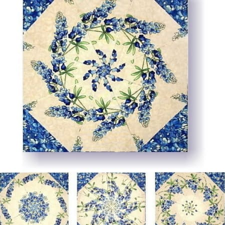 Bluebonnets Kaleidoscope Quilt Kit-0