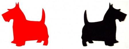 SCOTTIE DOG Template Set - Applique-0