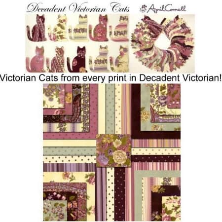 Decadent Victorian Cats Applique Set-0