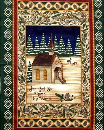 Chapel In The Pines Fabric Panel-0