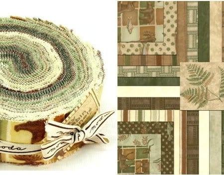 Cozy Cabin Moda Flannel Fabric Roll-0
