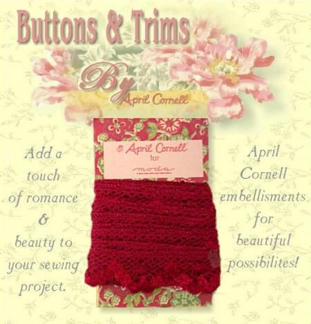 Crocheted Trim - Red-0