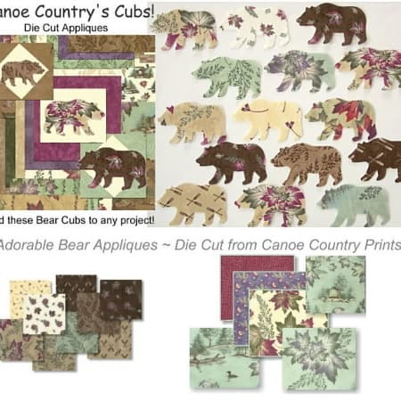 Canoe Country Cubs Applique Set-0