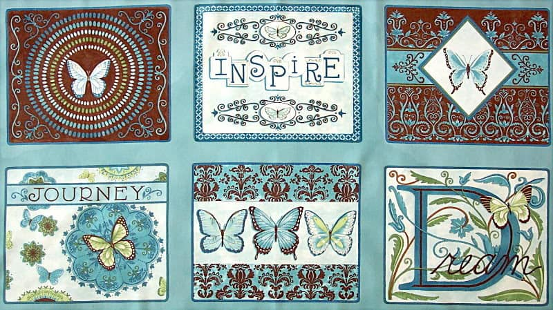Daydreams - Blue Moda Fabric Panel-0
