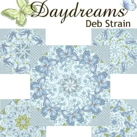 Daydreams In Blue Kaleidoscope Quilt Kit-0