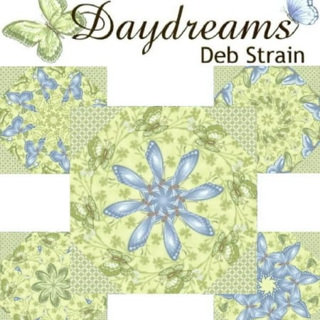 Daydreams In Green Kaleidoscope Quilt Kit-0