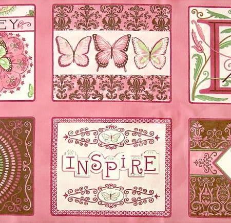Daydreams - Pink Moda Fabric Panel-0