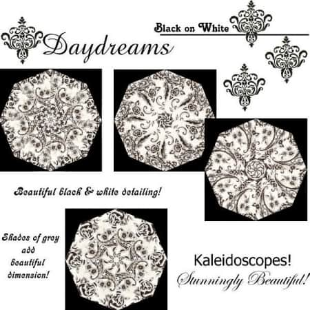 Daydreams Black on White Quilt Kit-0