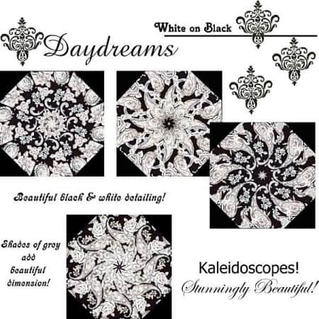 Daydreams White on Black Quilt Kit-0