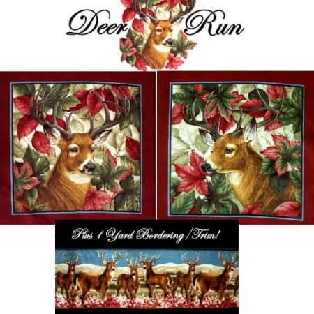 Deer Run Fabric Panel-0