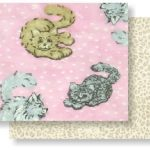 Flannel Cats Prefringed Rag Quilt Kit-0