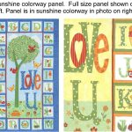 Love U Fabric Panel - Sunshine Colorway-0