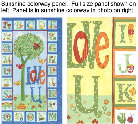 Love U Fabric Panel - Sunshine Colorway-0