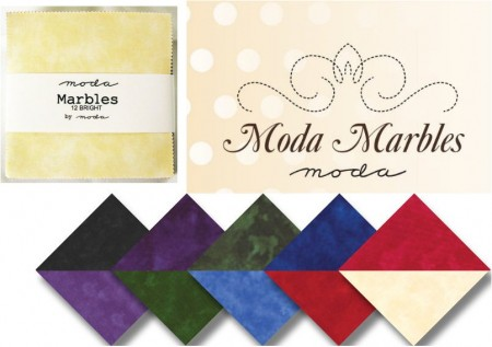 "Moda Marbles - Brights 5"" Charm Pack-0"