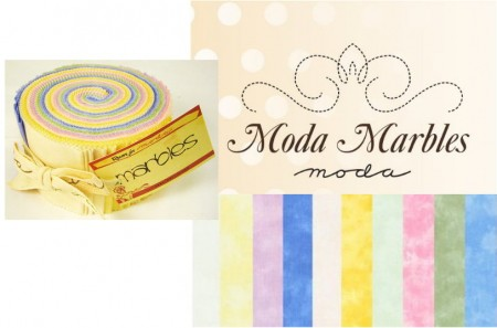 Moda Marbles - Pastels Jelly Roll-0