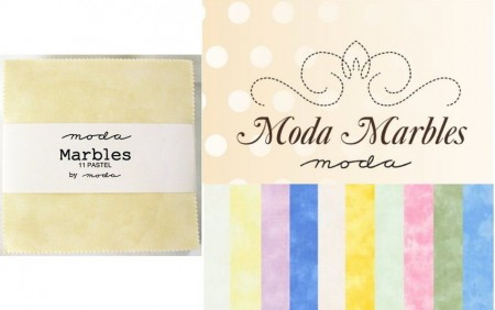"Moda Marbles - Pastels 5"" Charm Pack-0"