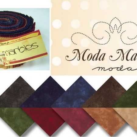 Moda Marbles - Warm Jelly Roll-0