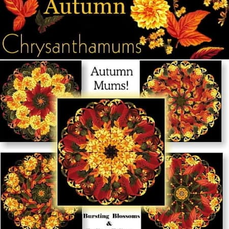 Autumn Mums Kaleidoscope Quilt Kit-0