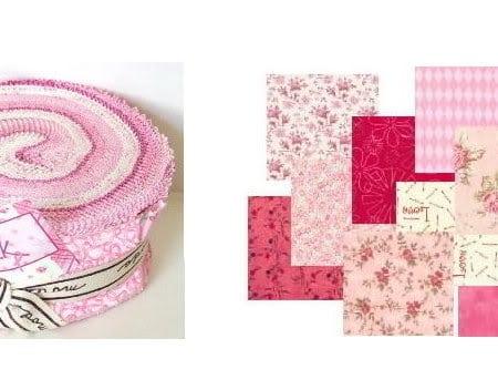 Quilt Pink Moda Fabric Roll-0