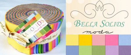 Bella Solids - 30's Moda Jelly Roll-0