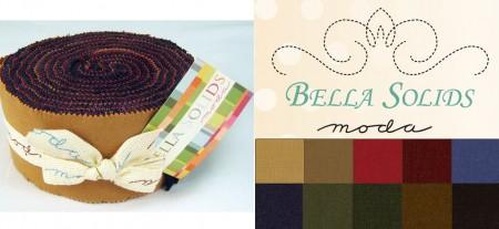 Bella Solids - Darks Moda Jelly Roll-0