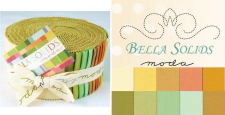 Bella Solids - Warm Moda Jelly Roll-0