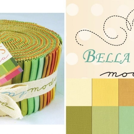 Bella Solids - Warm Moda Jelly Roll-0