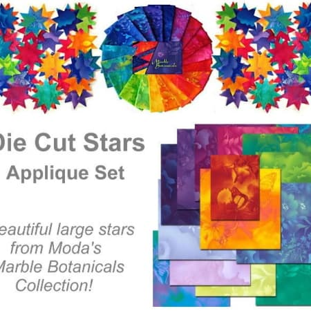 Marble Botanical Stars Applique Set-0