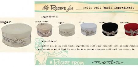 Bella Solids - Cream Color Moda Jelly Roll-0