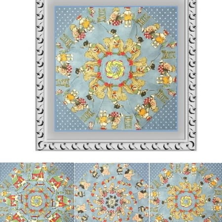 Antique Toy Box Kaleidoscope Quilt Kit-0