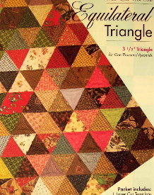 """EQUILATERAL TRIANGLE 3.5"""" Block TEMPLATE SET-0"""