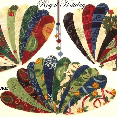 Royal Holiday ~ Quilter's Leaves Applique Set-0