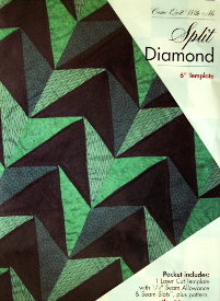 "SPLIT DIAMOND 6"" Block TEMPLATE SET-0"