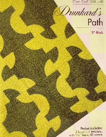 "DRUNKARD'S PATH 3"" Block TEMPLATE SET-0"