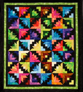 Fountain Blooms Quilt Kit - Green-0