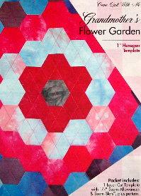 GRANDMOTHER'S FLOWER GARDEN Hexagon Template Set-0