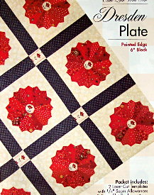"""DRESDEN PLATE 6"""" Pointed Edge Block TEMPLATE SET-0"""